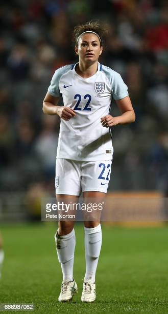 Jodie Taylor of England Women in action during the International Friendly match between England Women and Austria Women at Stadium mk on April 10...