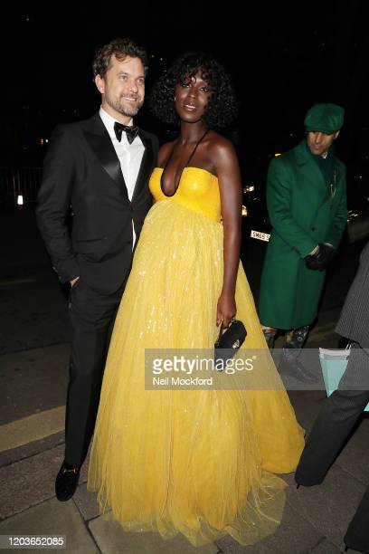 Jodie TunerSmith and Joshua Jackson attend the Vogue x Tiffany Fashion Film after party for the EE British Academy Film Awards 2020 at Annabel's on...