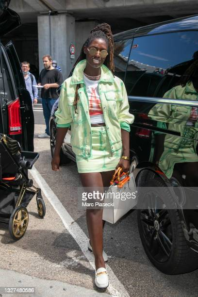 Jodie Turner Smith arrives for the 74th annual Cannes Film Festival at Nice Airport on July 07, 2021 in Nice, France.