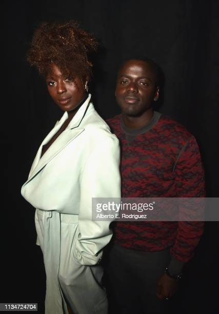 Jodie TurnerSmith and Daniel Kaluuya pose backstage at CinemaCon 2019 Universal Pictures Invites You to a Special Presentation Featuring Footage from...