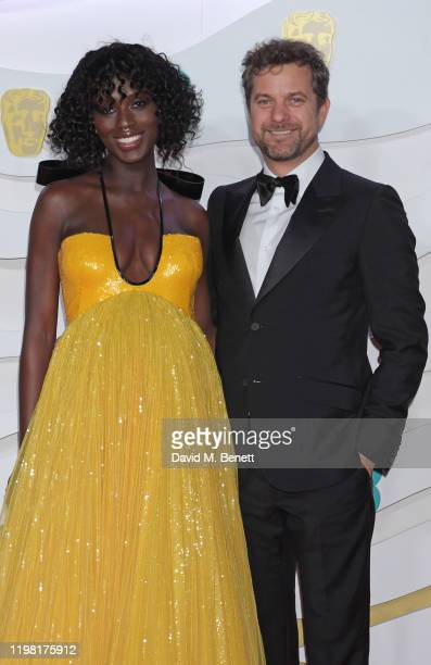 Jodie Turner-Smith and Joshua Jackson arrive at the EE British Academy Film Awards 2020 at Royal Albert Hall on February 2, 2020 in London, England.