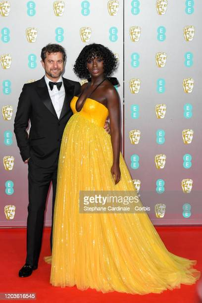 Jodie Turner-Smith and Joshua Jackson attend the EE British Academy Film Awards 2020 at Royal Albert Hall on February 02, 2020 in London, England.