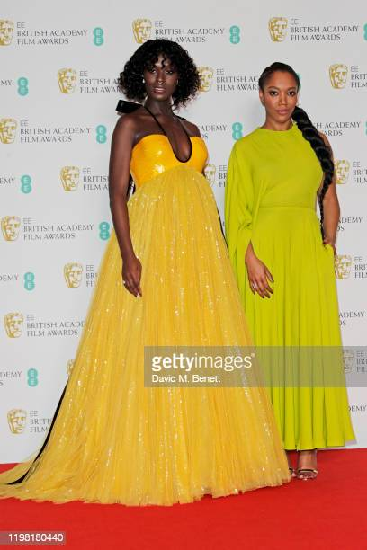 Jodie TurnerSmith and Naomi Ackie pose in the Winners Room at the EE British Academy Film Awards 2020 at Royal Albert Hall on February 2 2020 in...