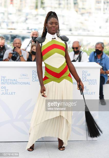 """Jodie Turner-Smith attends the """"After Yang"""" photocall during the 74th annual Cannes Film Festival on July 08, 2021 in Cannes, France."""