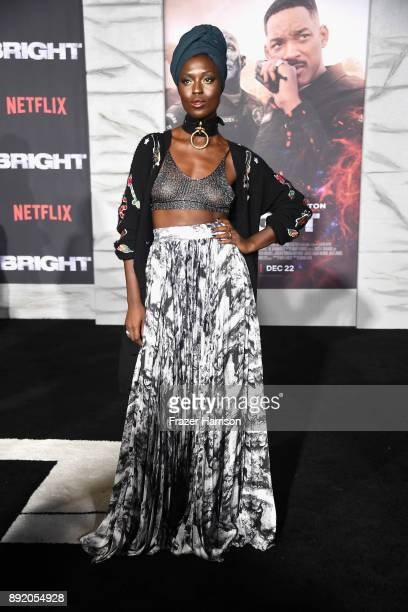 Jodie TurnerSmith attends the Premiere Of Netflix's Bright at Regency Village Theatre on December 13 2017 in Westwood California