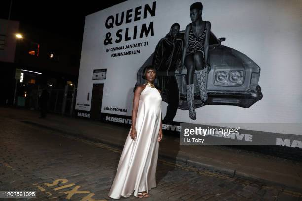 Jodie TurnerSmith attends the Queen Slim UK Premiere at Rich Mix Cinema on January 28 2020 in London England
