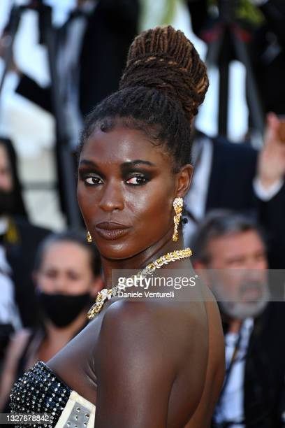 """Jodie Turner-Smith attends the """"Stillwater"""" screening during the 74th annual Cannes Film Festival on July 08, 2021 in Cannes, France."""