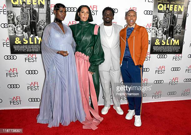 Jodie TurnerSmith Melina Matsoukas Daniel Kaluuya and Lena Waithe attend the Queen Slim Premiere at AFI FEST 2019 presented by Audi at the TCL...