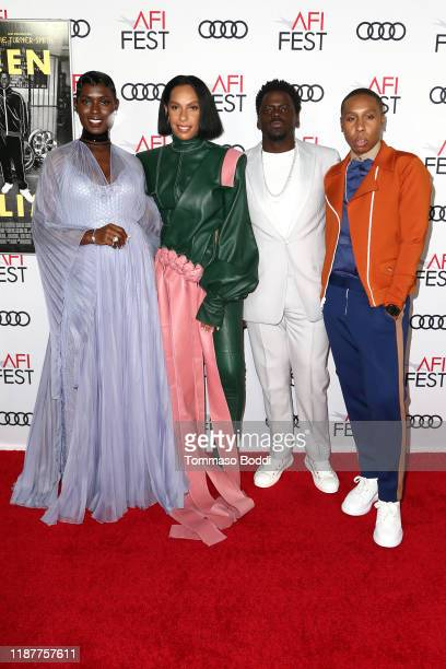 Jodie TurnerSmith Melina Matsoukas Daniel Kaluuya and Lena Waithe attend the AFI FEST 2019 Presented By Audi premiere of Queen Slim at TCL Chinese...