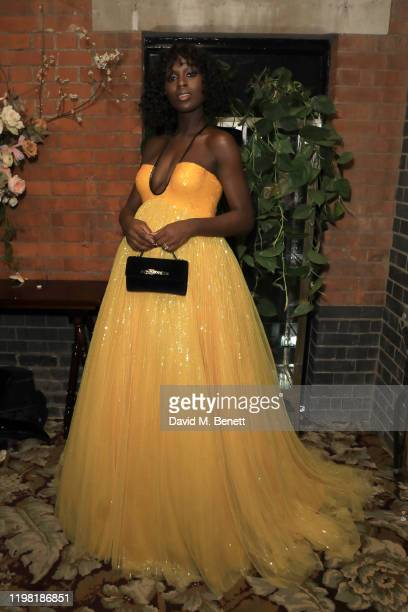 Jodie Turner-Smith poses the Netflix BAFTA after party at Chiltern Firehouse on February 2, 2020 in London, England.