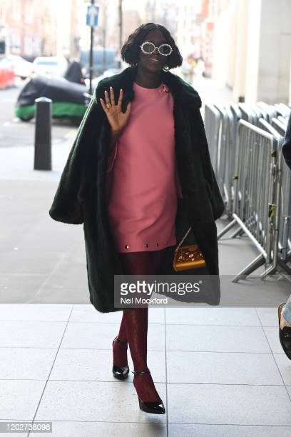 Jodie TurnerSmith seen at BBC Radio studios promoting new movie 'Queen Slim' on January 29 2020 in London England