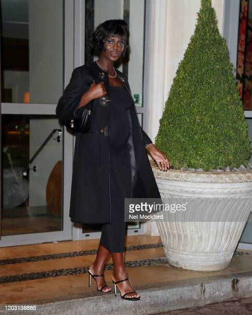 Jodie TurnerSmith seen leaving The Soho Hotel while promoting new movie 'Queen Slim' on January 30 2020 in London England