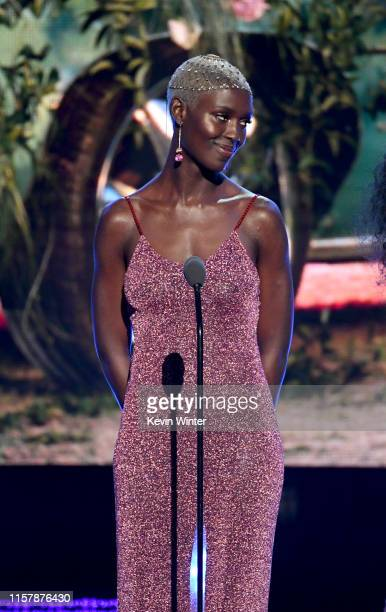Jodie TurnerSmith speaks onstage at the 2019 BET Awards on June 23 2019 in Los Angeles California