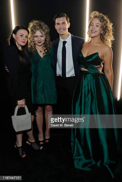 Jodie Tyack Sally Messham guest and Eliza Butterworth attend the dunhill Dylan Jones PreBAFTA party at dunhill Bourdon House on January 29 2020 in...