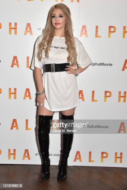 Jodie Weston attends the Gala Screening of Alpha at Picturehouse Central on August 19 2018 in London England