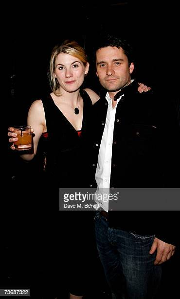 Jodie Whittaker and Alistair Mackenzie attend the a fundraiser party for the Almeida Theatre at the Almeida Theatre on March 23 2007 in London England