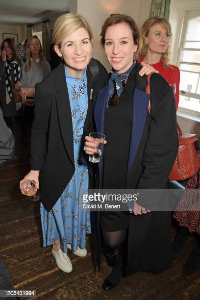 Jodie Whittaker and Dee Koppang O'Leary attend a drinks reception at Soho House to celebrate the announcement of a brand-new childcare facility at...