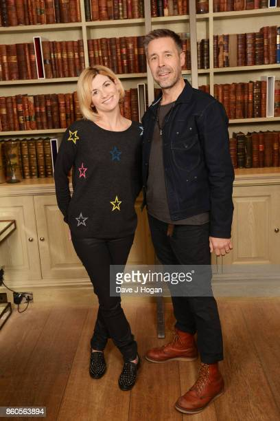 Jodie Whittaker and Director Lead actor and Writer Paddy Considine attend a photocall for the film 'Journeyman' during the 61st BFI London Film...
