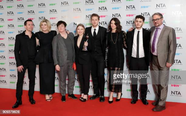 Jodie Whittaker and guests with the Crime Drama award for'Broadchurch' during the National Television Awards 2018 at the O2 Arena on January 23 2018...
