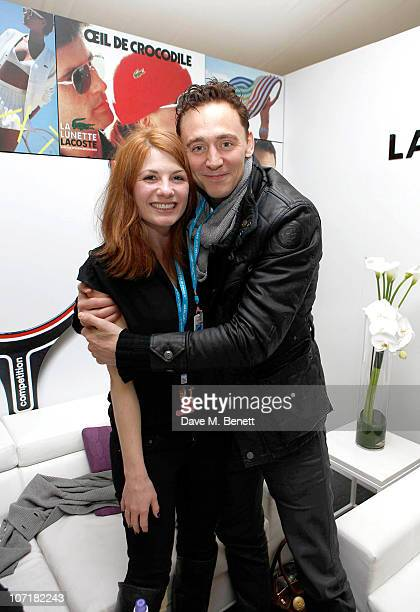 Jodie Whittaker and Tom Hiddleston at the Lacoste VIP Lounge at the ATP World Tour Finals in the O2 Arena on November 27 2010 in London England