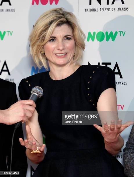 Jodie Whittaker as 'Broadchurch' wins the Crime Drama award during the National Television Awards 2018 at the O2 Arena on January 23 2018 in London...