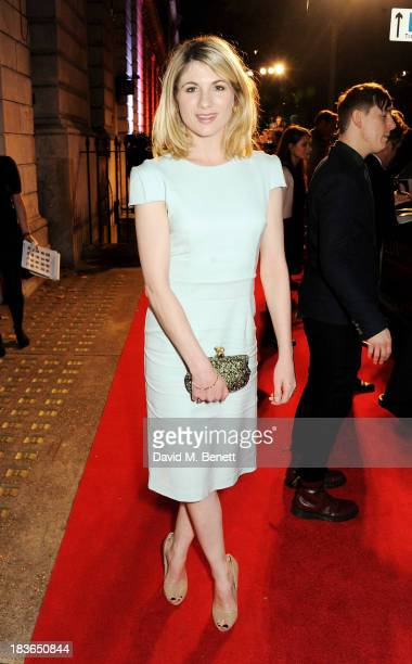 Jodie Whittaker attends a BFI Luminous Gala ahead of the London Film Festival at 8 Northumberland Avenue on October 8 2013 in London England