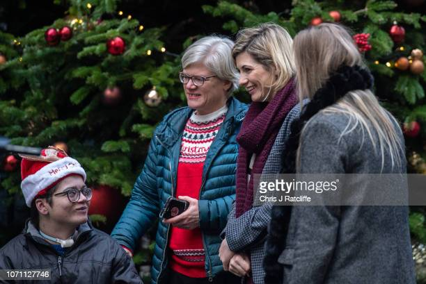 Jodie Whittaker attends a Children's Christmas Party at 11 Downing Street on December 10 2018 in London England