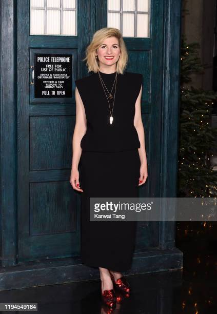 Jodie Whittaker attends a photocall for the new series launch of Doctor Who at BFI Southbank on December 17 2019 in London England
