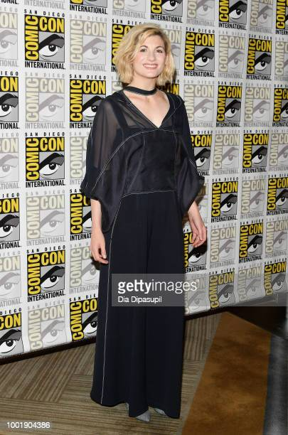 Jodie Whittaker attends BBC America's 'Doctor Who' Press line during ComicCon International 2018 at Hilton Bayfront on July 19 2018 in San Diego...