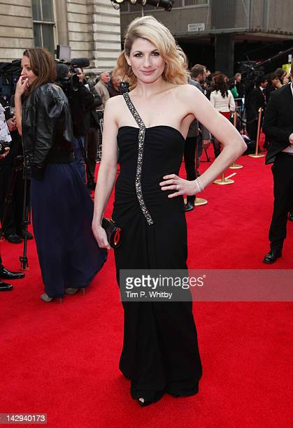 Jodie Whittaker attends the 2012 Olivier Awards at The Royal Opera House on April 15 2012 in London England
