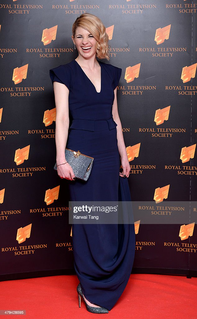 Jodie Whittaker attends the RTS programme awards at Grosvenor House, on March 18, 2014 in London, England.
