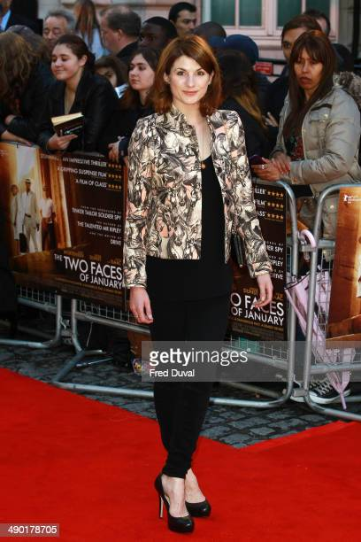 Jodie Whittaker attends the UK Premiere of 'The Two Faces Of January' at The Curzon Mayfair on May 13 2014 in London England