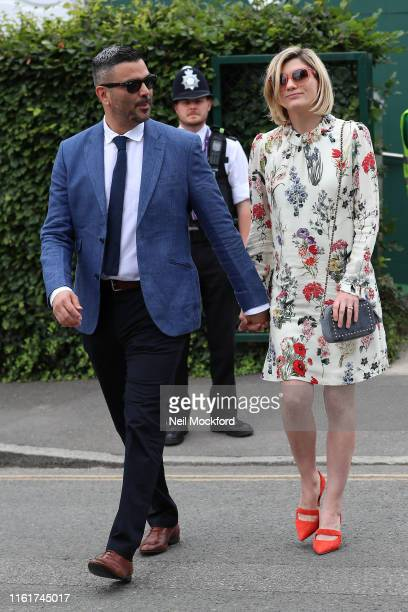 Jodie Whittaker attends Women's Final Day at the Wimbledon 2019 Tennis Championships at All England Lawn Tennis and Croquet Club on July 13 2019 in...