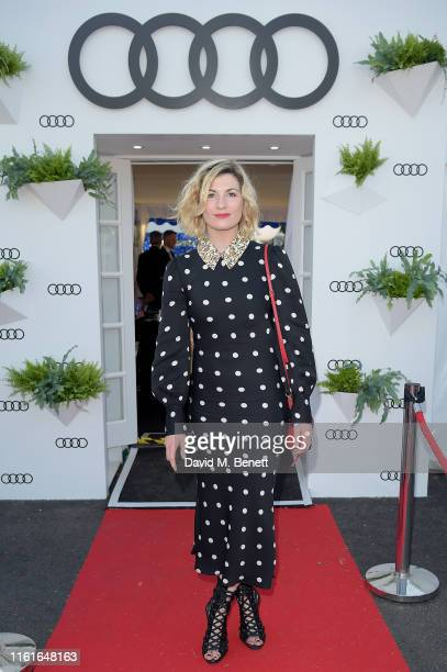 Jodie Whittaker, Audi guest at Henley Festival, Oxfordshire, Friday 12 July in Henley-on-Thames, England.