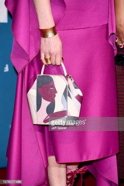 Jodie Whittaker bag detail attends the 21st British Independent Film Awards at Old Billingsgate on December 02 2018 in London England