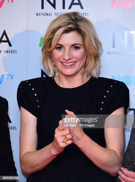 Jodie Whittaker in the Press Room at the National Television Awards 2018 held at the O2 Arena London