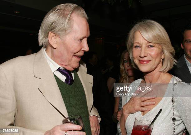 "Jodie Whittaker, Peter O'Toole and Helen Mirren attend the Miramax Films pre-Oscar party for the films ""The Queen"" and ""Venus"" co-hosted Jo Malone..."