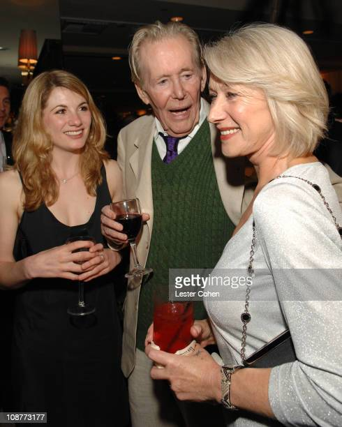 Jodie Whittaker Peter O'Toole and Helen Mirren during Miramax Films and British Fragrance House Jo Malone Join to Celebrate 2007 OscarNominated Films...