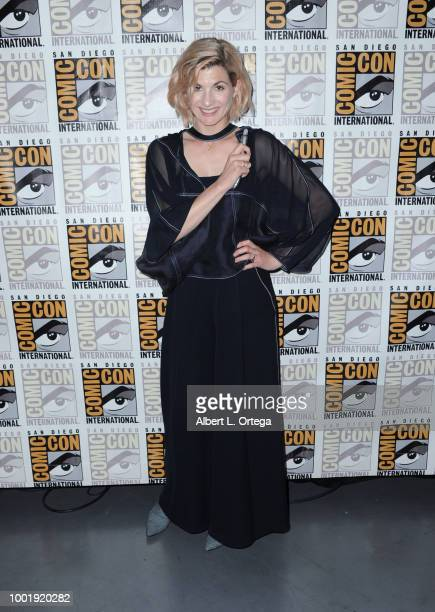 Jodie Whittaker poses during the Doctor Who: BBC America's Official panel during Comic-Con International 2018 at San Diego Convention Center on July...