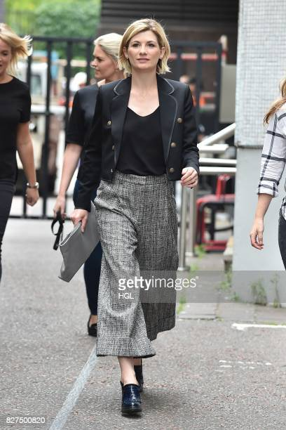 Jodie Whittaker seen at the ITV Studios on August 8 2017 in London England