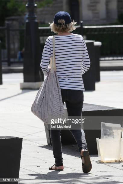 Jodie Whittaker who was announced as the 13th Doctor Who seen heading to breakfast in North London on July 18 2017 in London England