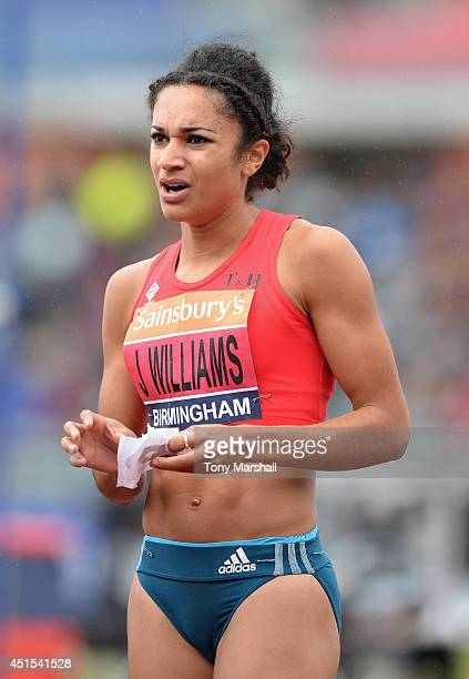 Jodie Williams after winning the Women's 200m final during the Sainsbury's British Championships Birmingham Day Two at Birmingham Alexander Stadium...