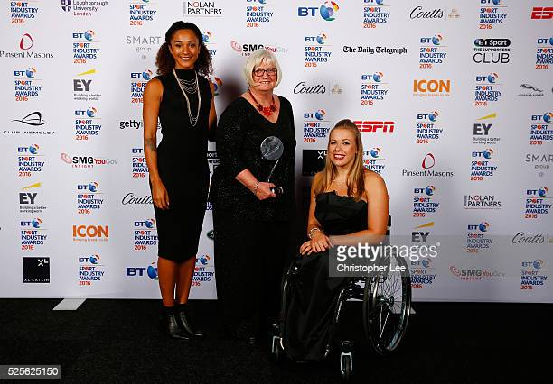 Jodie Williams and Hannah Cockroft present the Governing Body of the Year award in association with The Daily Telegraph to British Gymnastics at the...