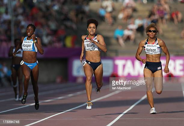 Jodie Williams of Great Britain on her way to victory in the Women's 200m Final during day three of The European Athletics U23 Championships 2013 on...