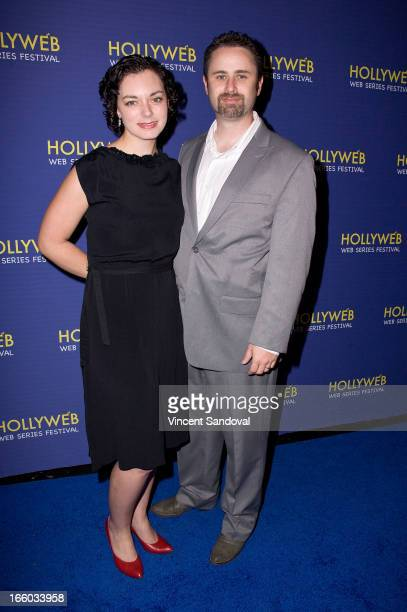 Jodie Younse and Ed Robinson attend the 2nd annual HollyWeb Festival at Avalon on April 7 2013 in Hollywood California