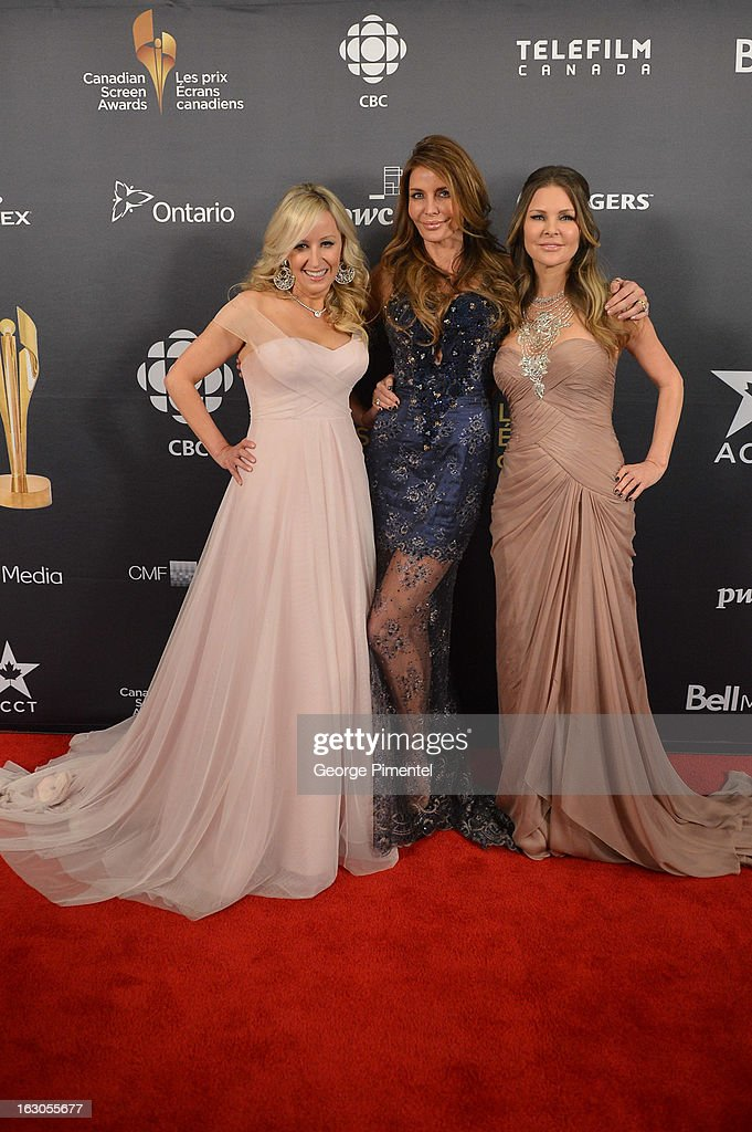 Jody Claman, Ronnie Negus and Mary Zilba pose in the press room at the 2013 Canadian Screen Awards at Sony Centre for the Performing Arts on March 3, 2013 in Toronto, Canada.