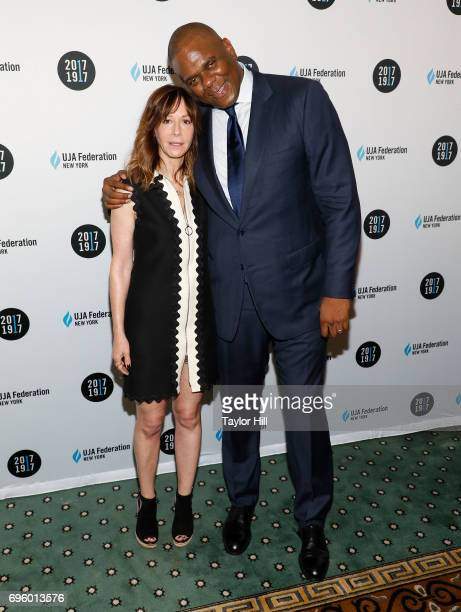 Jody Gerson and Jon Platt attend the United Jewish Appeal Federation Of New York's 2017 Music Visionary Of The Year Award Luncheon at The Pierre...