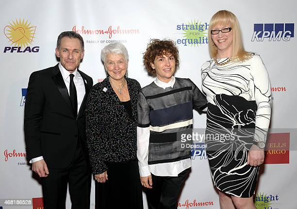 Jody M Huckaby Jean Hodges Jill Soloway and Allyson Dylan Robinson attend the 7th Annual PFLAG National Straight For Equality Awards Gala at The New...