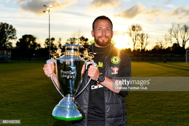 Jody Morris Manager of Chelsea U18 celebrates after winning the U18 Premier League after the Under 18 Premier League game between Chelsea U18s and...