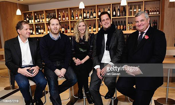 Jody Scheckter Bryn Williams Lisa Faulkner Valentine Warner and Mark Price attend the launch of Waitrose's First cookery School at Finchley Road on...